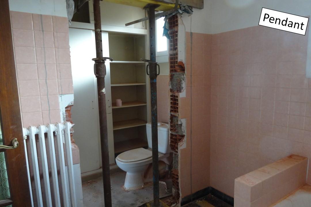 10 - ouverture mur de la salle de bain - BH-déco