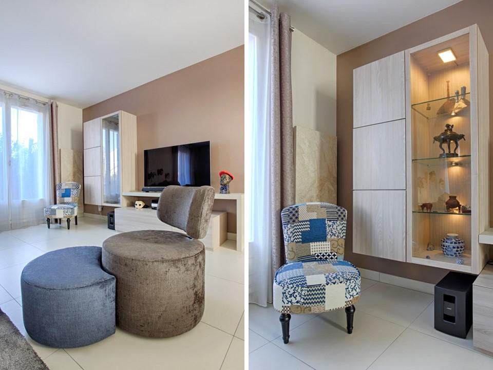 13BH-Déco rénovation décoration salon salle à manger lin bleu bois