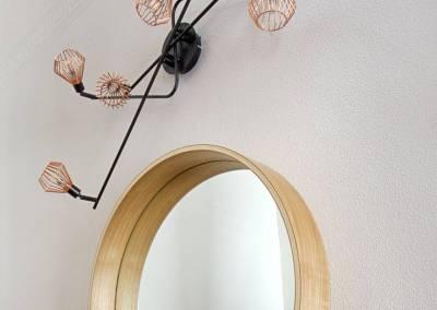 BH-Déco - Sylvie Samain - Entrée contemporaine miroir mur lin