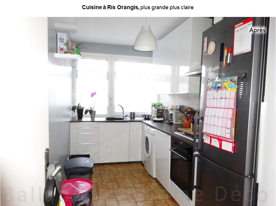 cuisine ferm e laqu grise bh d co d coratrice d 39 int rieur ufdi 91 77. Black Bedroom Furniture Sets. Home Design Ideas