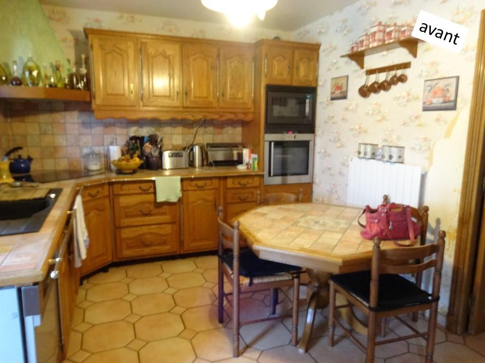 2 cuisine laque et bois contemporaine