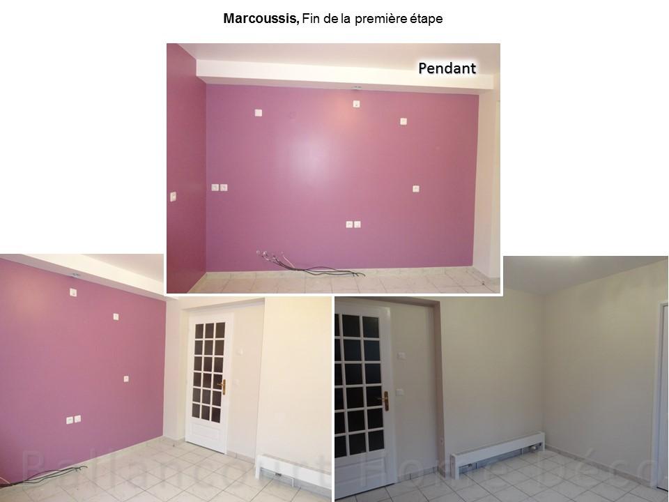 5 Cuisine laquée blanche mur violet