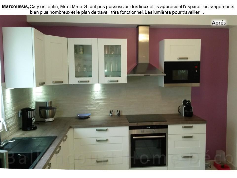 8 Cuisine laquée blanche mur violet