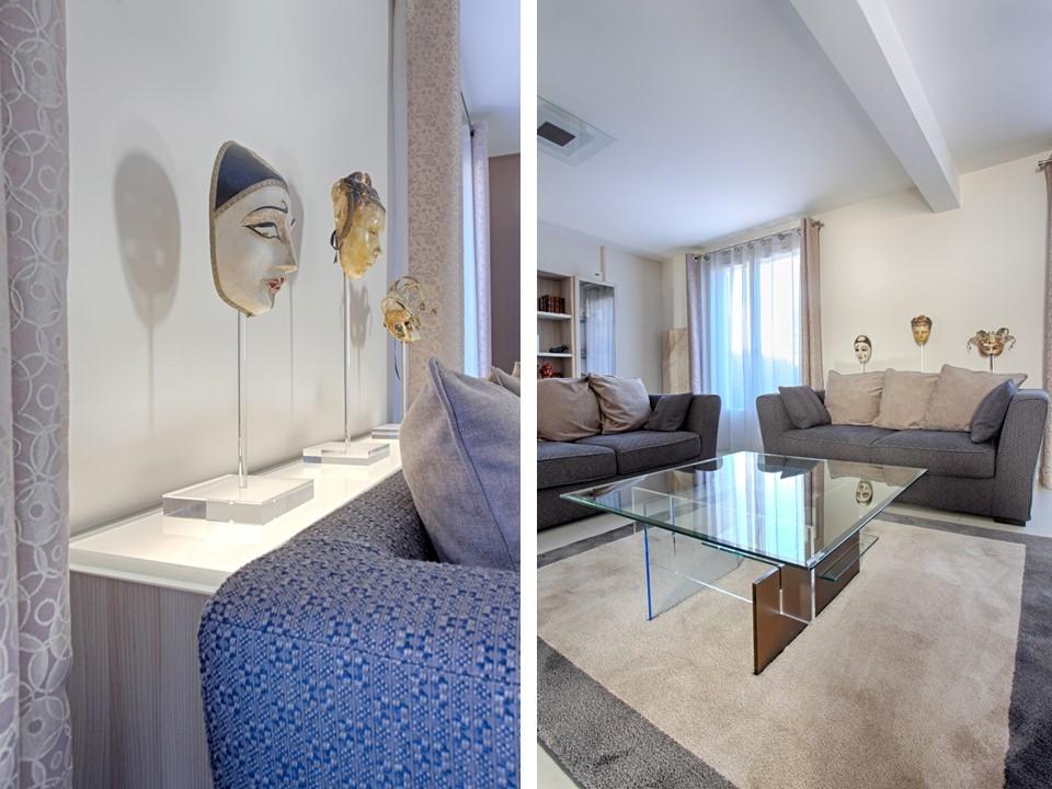 9bh déco rénovation décoration salon salle à manger lin bleu bois