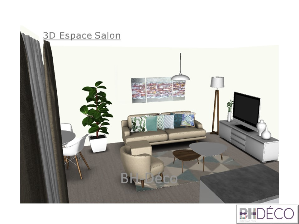 BH-Déco 3D vue dessus appartement 2