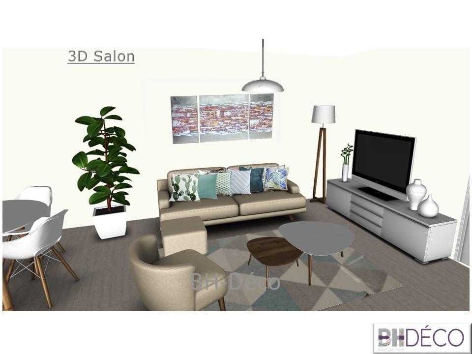 BH-Déco 3D vue dessus appartement 3