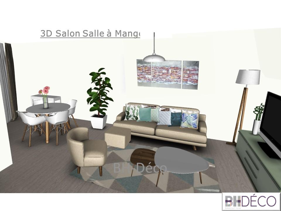 BH-Déco 3D vue dessus appartement 4