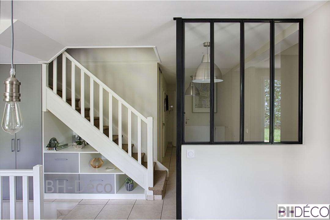 BH-Déco 7, decoration, verrière et escalier repeint et aménagé