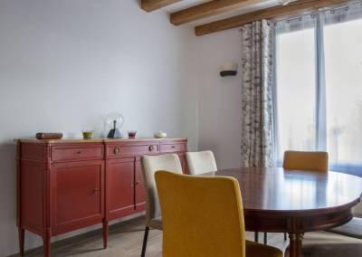 BH-Déco - Sylvie Bernard Samain rénovation complete du RdC d'une maison à Villebon sur Yvette salle a manger