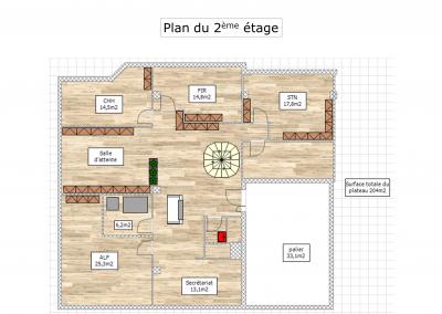 BH-Déco - Sylvie Samain - Plan Décoration d'un cabinet d'avocats Evry