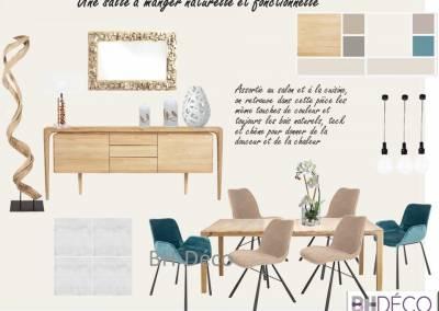 BH-Déco - Sylvie Samain - Planche salle à manger bois naturel bois flotté