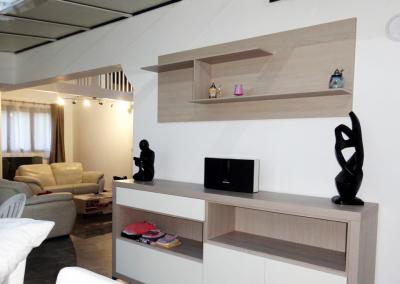 Rénovation et décoration d'un séjour et d'une cuisine à Soisy sur Seine