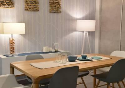 BH-Déco - Sylvie Samain - Rénovation maison accessibilité PMR Séjour lumineux table chêne, déco nature