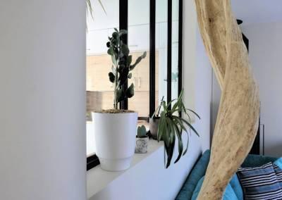 BH-Déco - Sylvie Samain - Sculpture bois flotté verrière