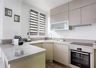 BH-Déco - Sylvie Samain - rénovation complète appartement cuisine ouverte