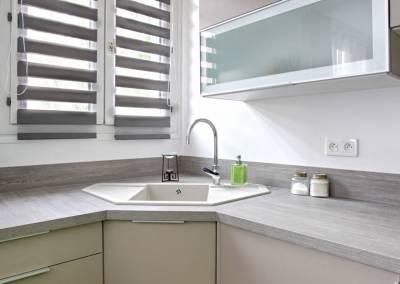 BH-Déco - Sylvie Samain - rénovation complète appartement détail cuisine beige