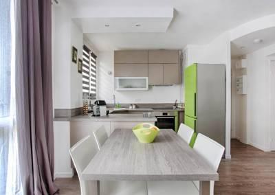 BH-Déco - Sylvie Samain - rénovation complète appartement ouverture de la cuisine