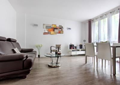 BH-Déco - Sylvie Samain - rénovation complète appartement ouverture salon salle à manger