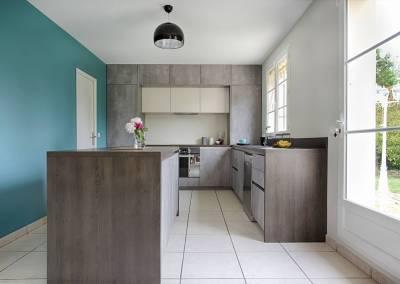 BH-Déco - Sylvie Samain, rénovation totale cuisine avec ouverture