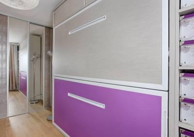 BH-Déco - Sylvie Samain, rénovation totale d'un appartement chambre lits jumeaux escamotables
