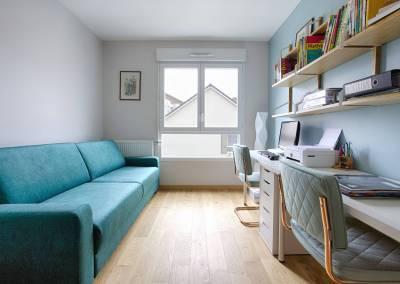 BH-Déco - Sylvie Samain, rénovation d'un appartement, bureau chambre d'amis