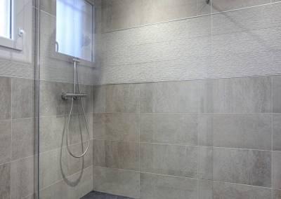 BH-Déco - Sylvie Samain, rénovation d'une salle de bain parentale douche a l'italienne