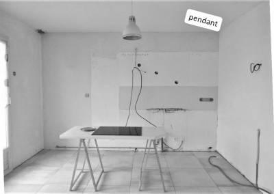 BH-Déco - Sylvie Samain - cuisine ouverte Draveil - Avant