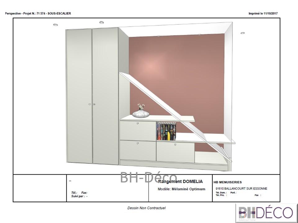 BH-Déco meuble sous escalier