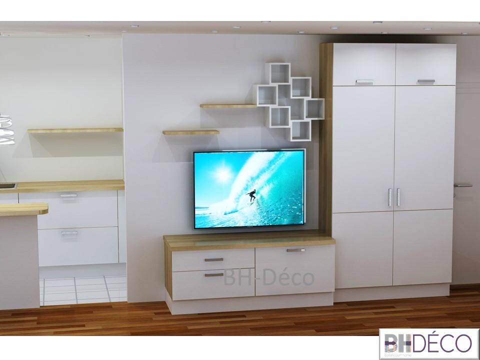 BH-Déco meuble télé se salla à manger 1