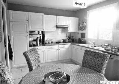 BH-Déco - Sylvie Samain - Rénovation cuisine Mennecy - Avant