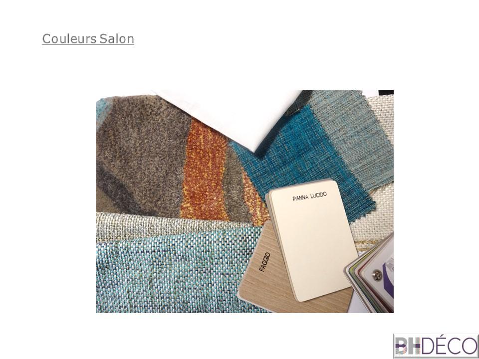 BH-Déco planche salon bleu turquoise contemporain