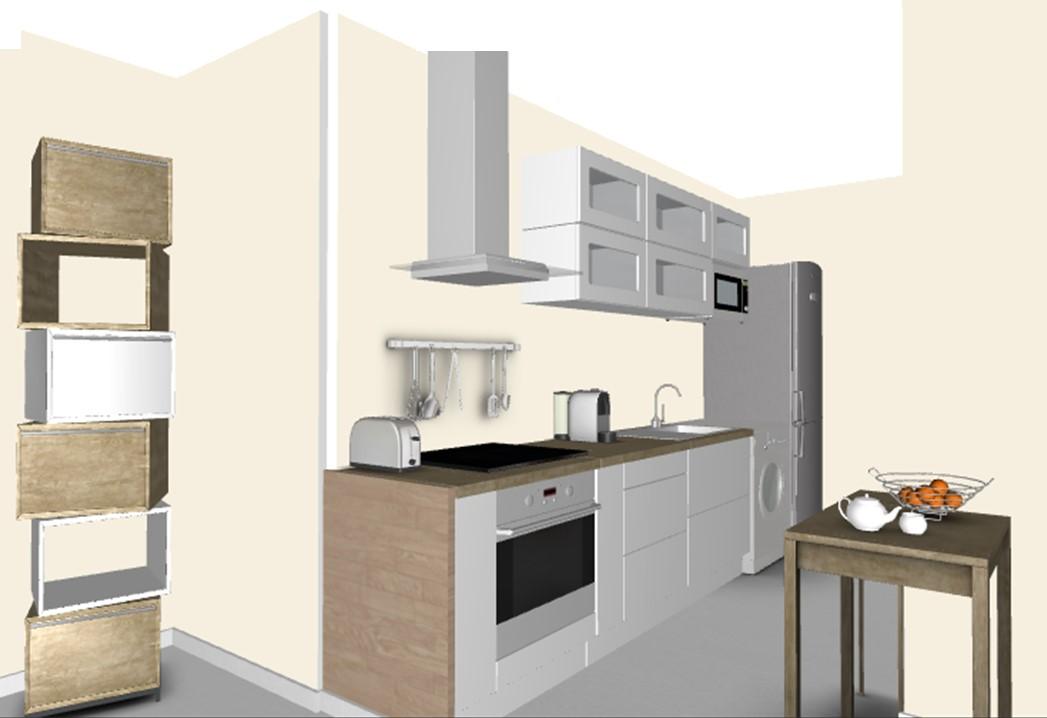 Décoration d'un séjour, salle à manger avec cuisine ouverte, à ...