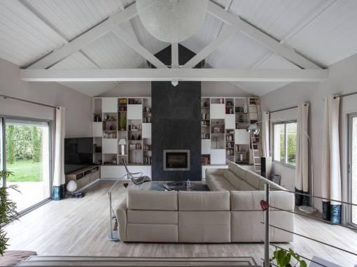 Projet Pièces à vivre et création de mobilier sur mesure – Essonne