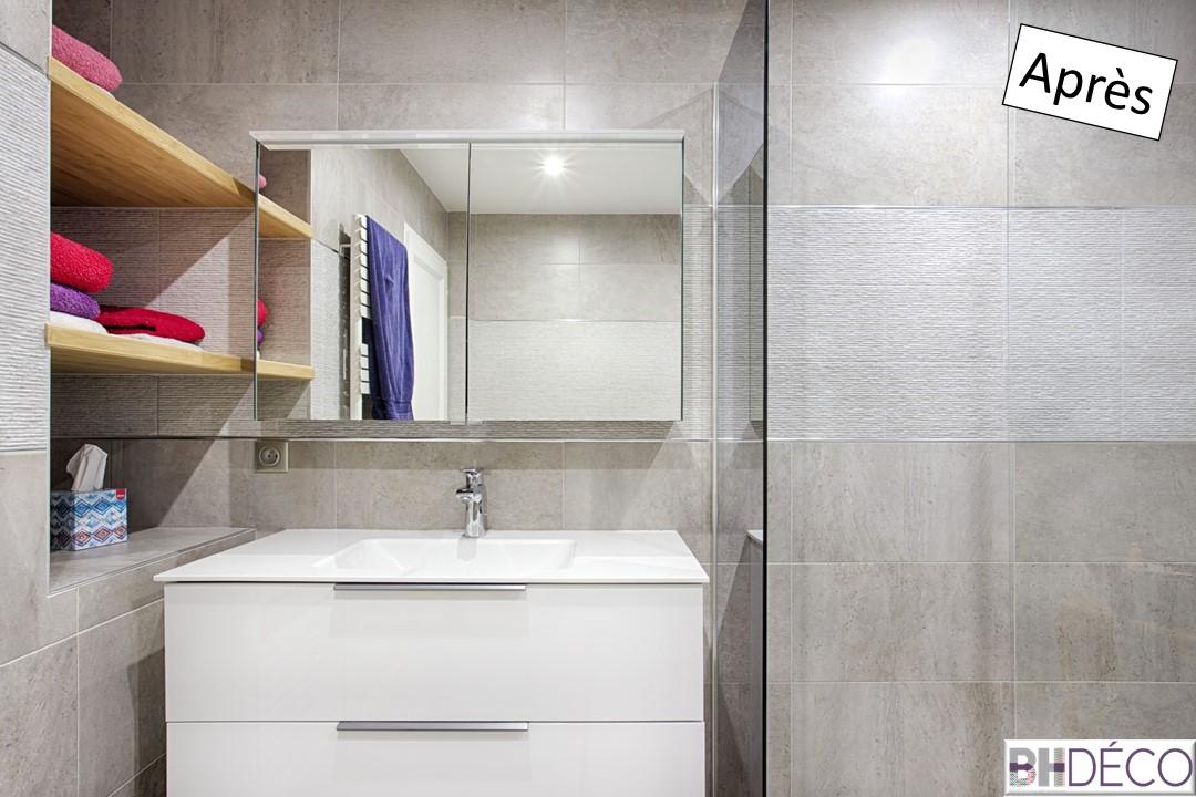 BH-DécoBH-Déco rénovation salle de bain carrelage gris grands carreaux 15