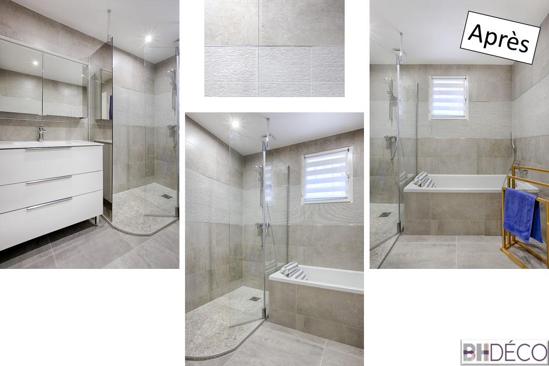 BH-DécoBH-Déco rénovation salle de bain carrelage gris grands carreaux 16