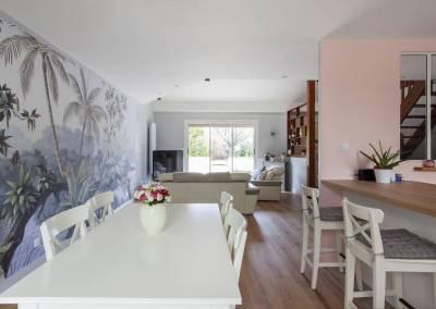 Visite conseil pour la décoration d'un séjour-cuisine et d'une salle d'eau – Soisy sur Seine – Essonne