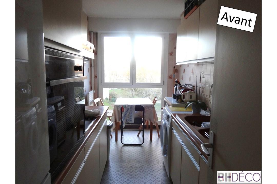 BH-déco rénovation séjour cuisine ouverture cloison cuisine sol pvc clipsable bois 9