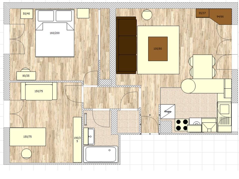 r novation et d coration d 39 un appartement massy bh. Black Bedroom Furniture Sets. Home Design Ideas
