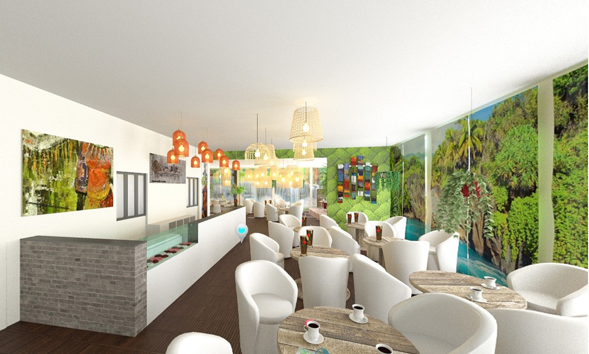 Projet de restaurant en 3D