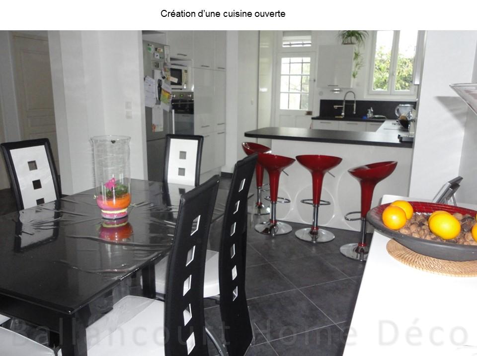 Cuisine ouverte dans une maison en meuli re bh d co - Decoration eclectique maison moderne seattle ...