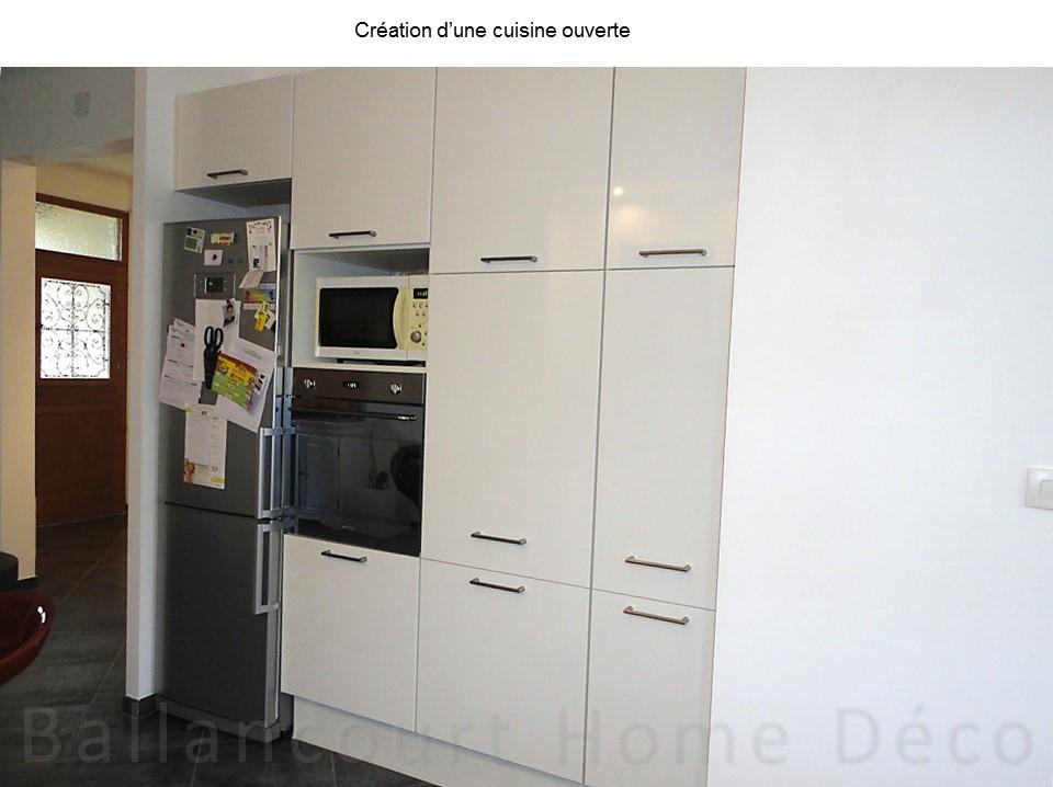 Cuisine ouverte dans une maison en Meulière | BH-Déco - Décoratrice ...